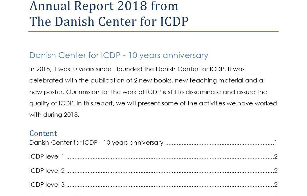 2018 Annual rapport Danish Center for ICDP final